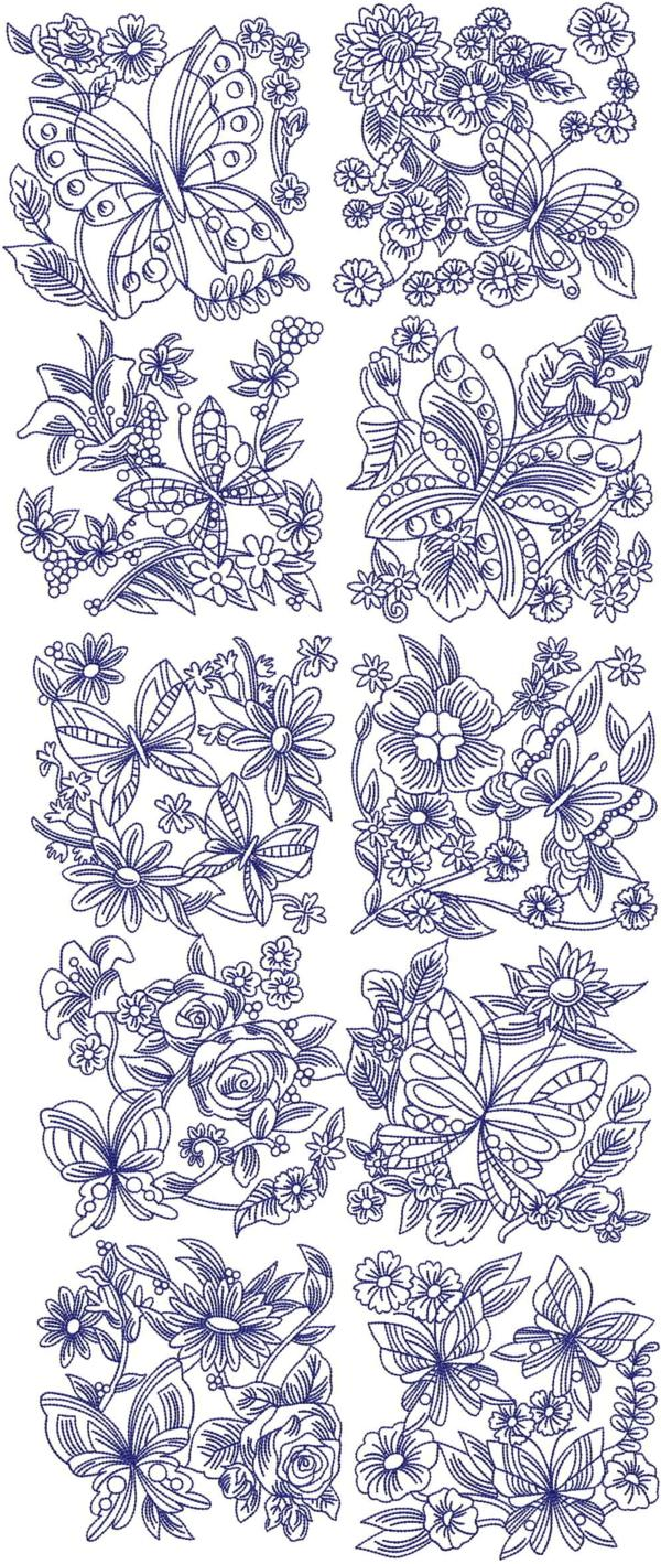 Advanced Embroidery Designs Butterflies And Flowers