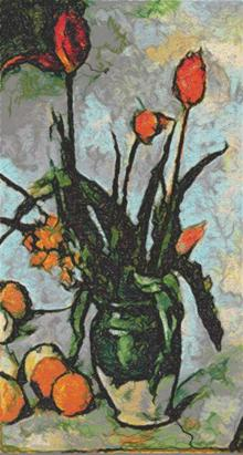 Tulips by Paul Cezanne
