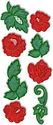 Roses and Leaves Applique Set