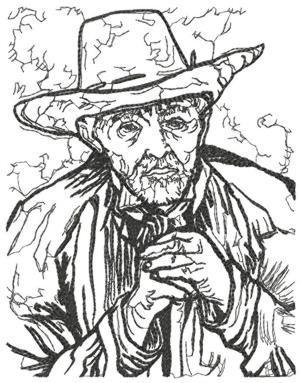 Portrait of an Old Peasant by Vincent Van Gogh