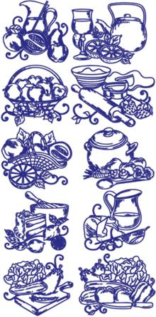 Advanced Embroidery Designs Redwork Kitchen Embroidery Designs