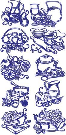 Advanced Embroidery Designs Redwork Kitchen Embroidery Designs