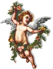 Cupid with Flower Garland