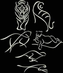 Big Cats Silhouette Set