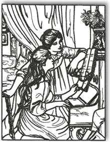 Advanced embroidery designs young mother sewing by mary for Mary cassatt coloring pages