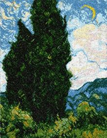 Two Cypresses by Van Gogh