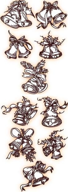 Christmas Bell Redwork Sets I & II