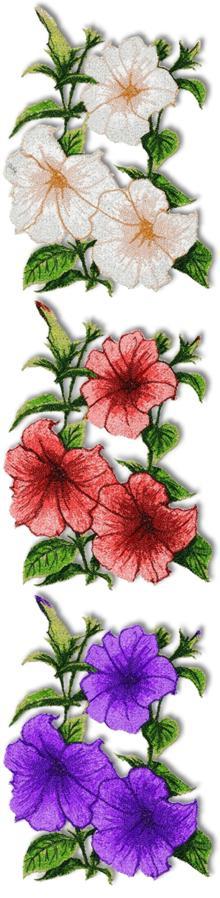 Screen shot of petunia embroidery designs