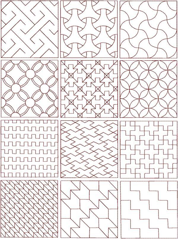 Sashiko Quilting Patterns Free : Advanced Embroidery Designs - Sashiko Set