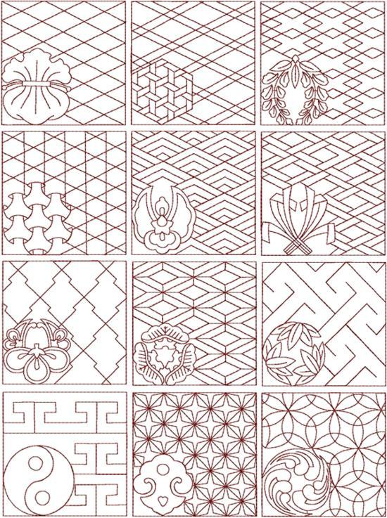 Sashiko Quilting Patterns Free : FREE SASHIKO PATTERNS - FREE PATTERNS