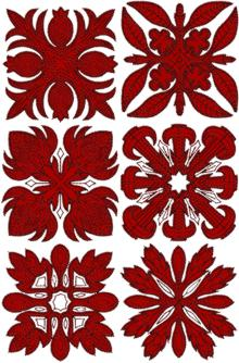 Hawaiian Motif Applique Set II