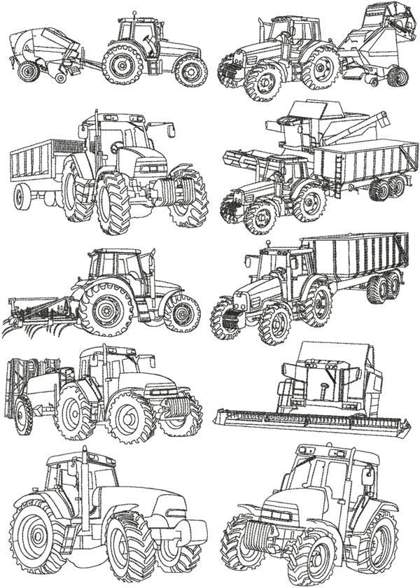 Advanced Embroidery Designs Farm Machines Redwork Set