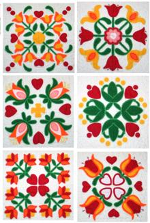 Applique Flower Quilt Block Set