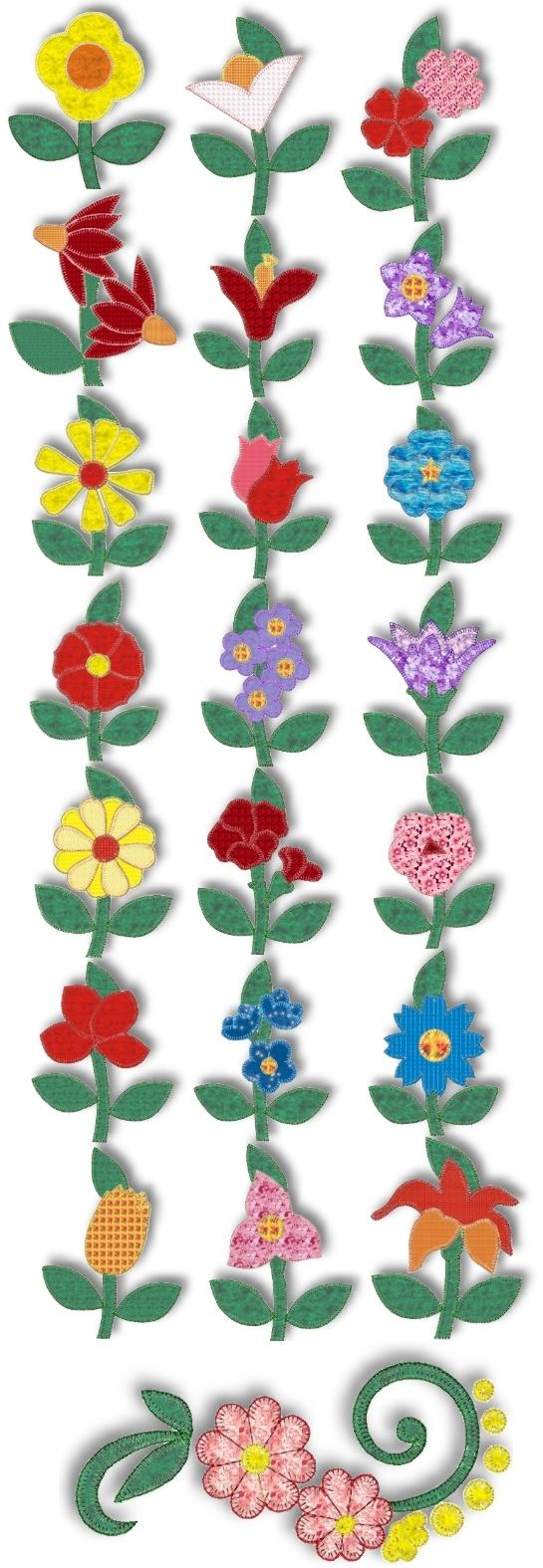Advanced embroidery designs flowers in my garden for Garden embroidery designs