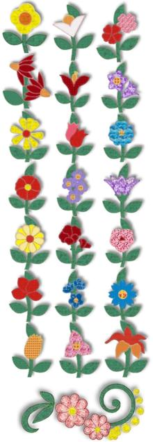 Flowers in My Garden Applique Set