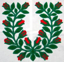 Baltimore Quilt: Rose Garland Applique