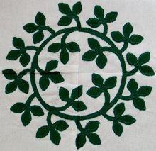Baltimore Quilt: Laurel Wreath Applique