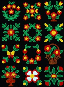 Flower Applique Block Set