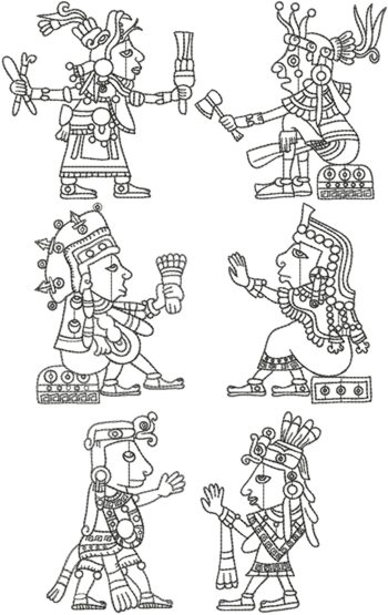 Mayan Art Redwork Set