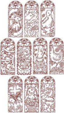 Easter Redwork Set