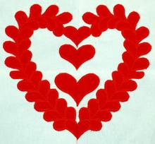 Baltimore Quilt: Heart of Hearts Applique