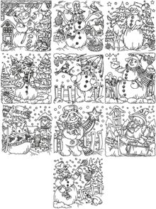 One-Color Snowmen Set