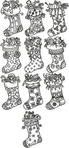 One-Color Christmas Stocking Set