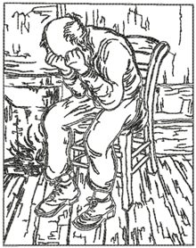 Old Man in Sorrow by Vincent van Gogh