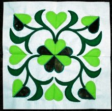 Baltimore Quilt: Four-Leaf Clover Applique