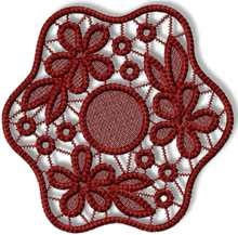 FSL Point Lace Flower Doily