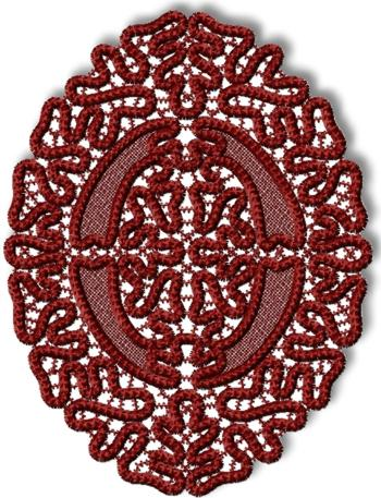 FSL Point Lace Oval Doily