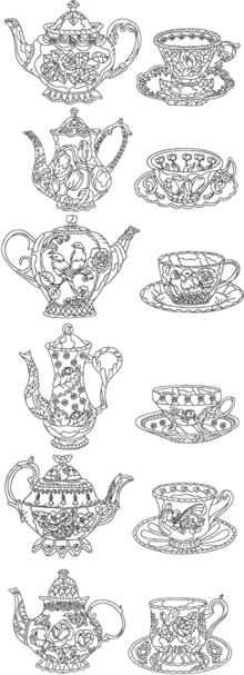 One-Color Tea Cup Set