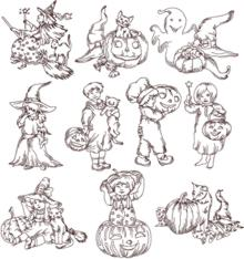 One-Color Halloween Set