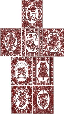 One-Color Christmas Card Set