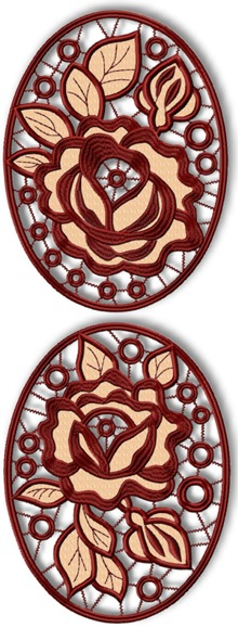 Cutwork Rose Medallions