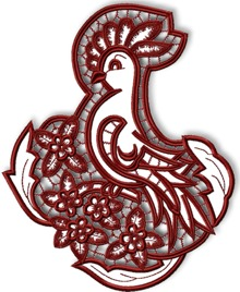 Cutwork Lace Rooster