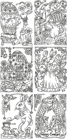 One-Color Vintage Easter Set