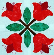 Baltimore Quilt: Tulip Applique