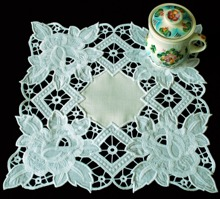 Cutwork Lace Rose Doily