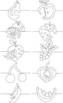Quilting Fruit Border Set
