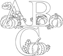 One-Color Pumpkin Alphabet