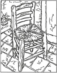 Chair with Pipe by Van Gogh