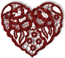 Cutwork Lace Heart