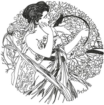 Alphonse Mucha Calendar Series: April