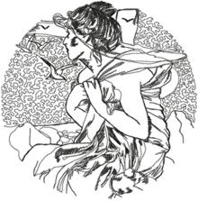 Alphonse Mucha Calendar Series: September