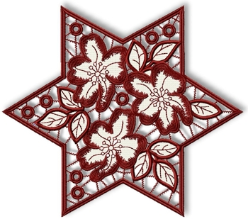 Cutwork Lace Flower Star