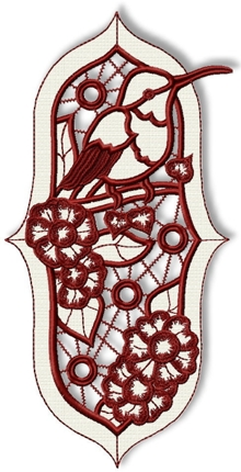 Cutwork Lace Hummingbird Insert