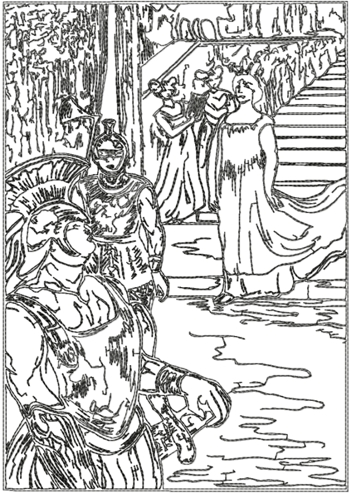 Messalina Descends the Stairs by Toulouse-Lautrec