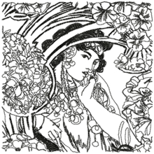 Woman with Flowers by Alphonse Mucha
