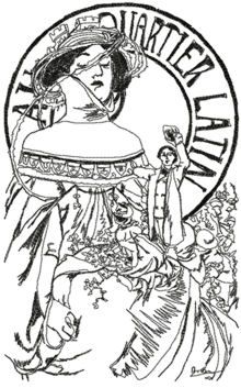 Quartier Latin by Alphonse Mucha